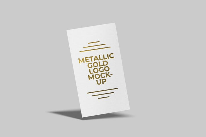Metallic Gold Logo Mockup