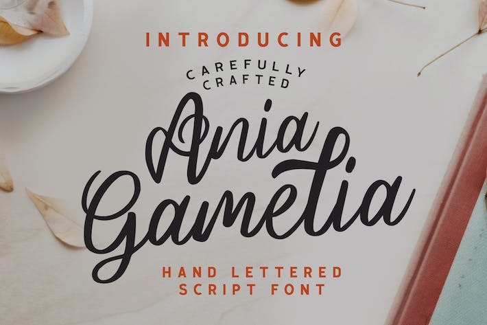 Thumbnail for Ania Gamelia - Handlettering Script Font
