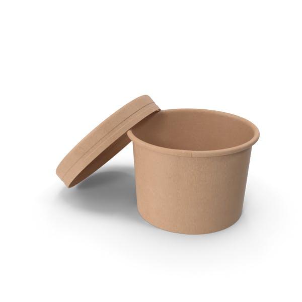 Крафт-бумага Food Cup с вентилируемой крышкой одноразовое ведро для мороженого 8 унций 200 мл Open
