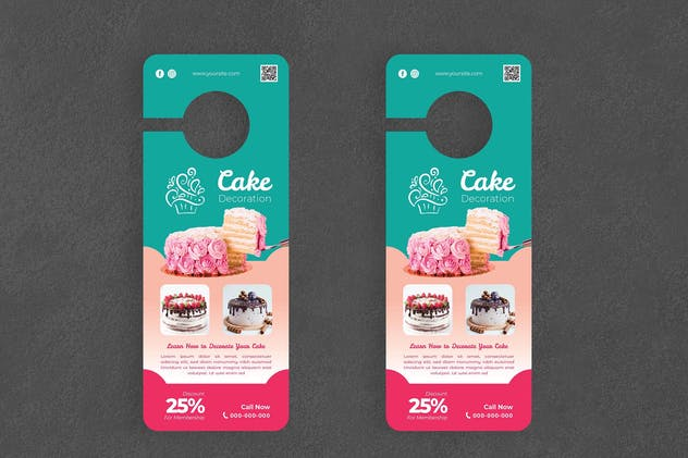 Cake Decor Door Hanger Creative Promotion