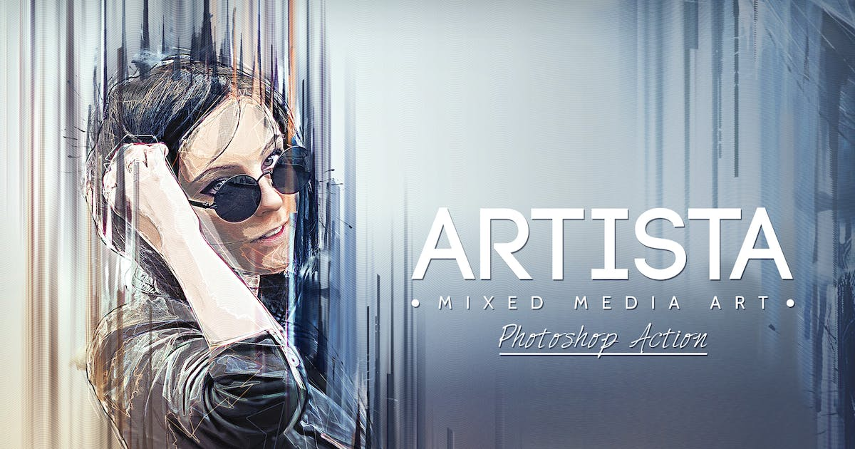 Download Artista - Mixed Media Art Photoshop Action by BlackNull