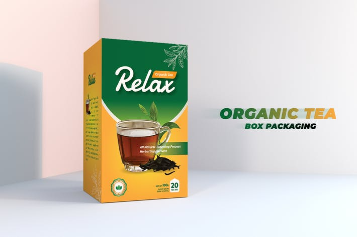 Thumbnail for Tea Box Packaging Design V2