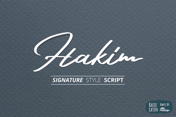 Thumbnail for Hakim Signature Font