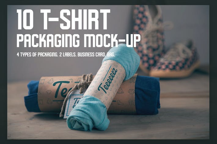 Thumbnail for T-shirt Packaging Mock-ups