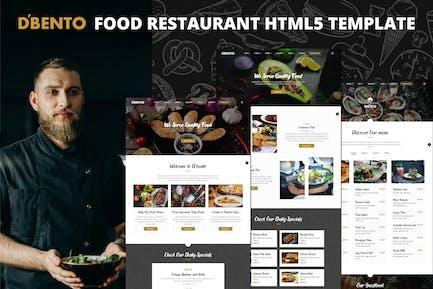 Dbento   Food Restaurant HTML5 Template