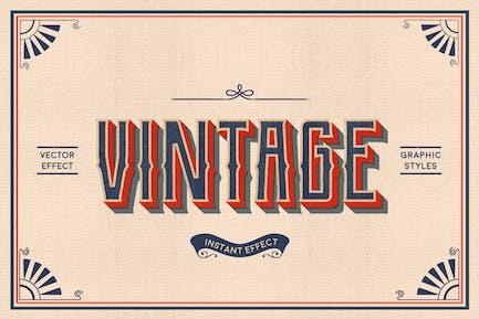 Vintage Text Effects (Illustrator)