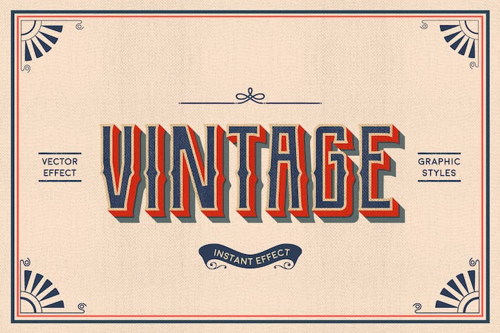 Thumbnail for Vintage Text Effects (Illustrator)