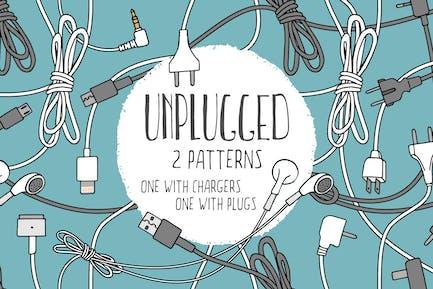 Unplugged - Two Seamless Patterns
