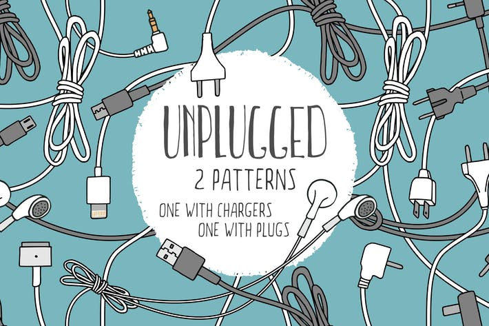 Thumbnail for Unplugged - Two Seamless Patterns