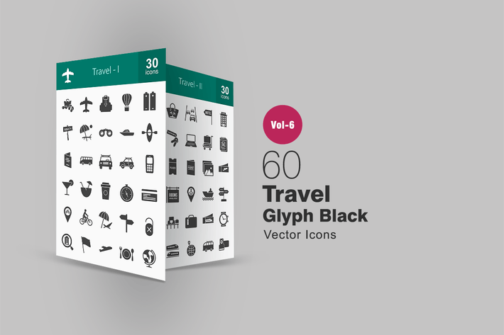 Thumbnail for 60 Travel Glyph Icons