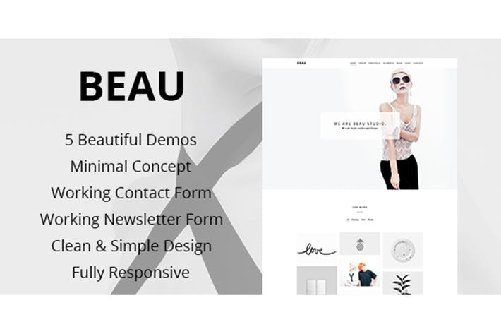Thumbnail for Beau - Portfolio  Agency HTML Theme