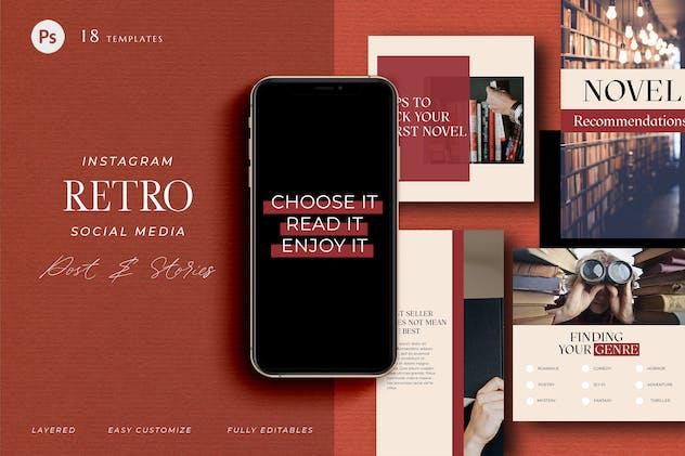 Pick your book - Retro Instagram Pack