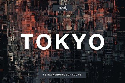 Tokyo| City Glitch Backgrounds | Vol. 06