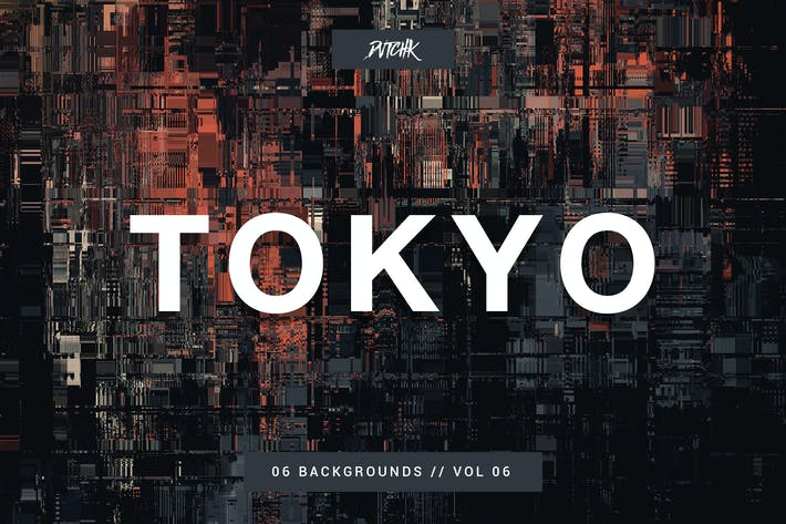 Thumbnail for Tokyo| City Glitch Backgrounds | Vol. 06