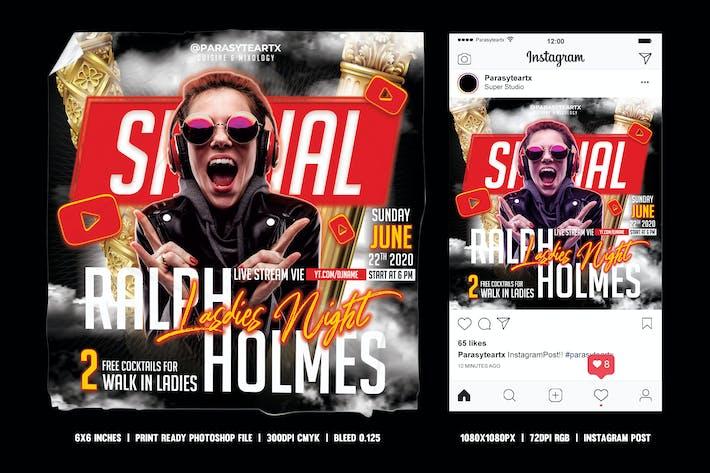 Thumbnail for DJ Square Flyer & Instagram Post