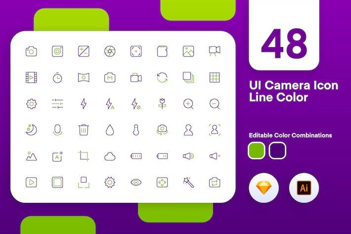 UI Camera Icon Line Color