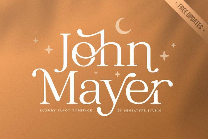Thumbnail for John Mayer - Fancy Ligature Font
