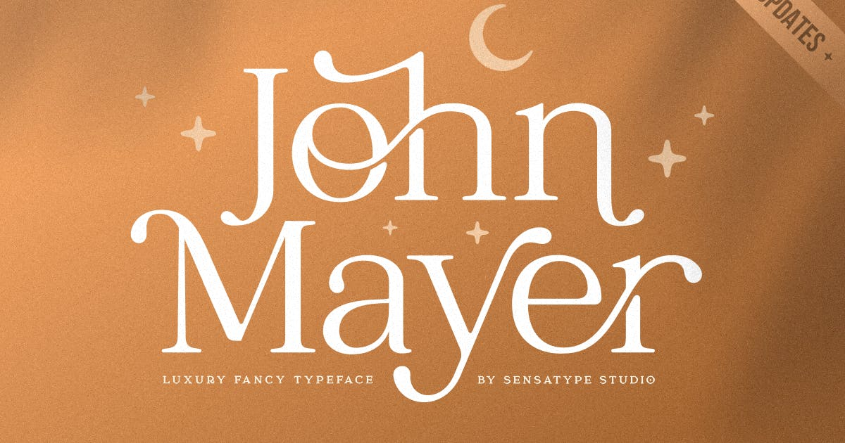 Download John Mayer - Fancy Ligature Font by HamzStudio