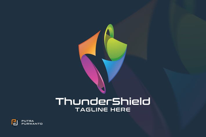 Thumbnail for Thunder Shield - Logo Template