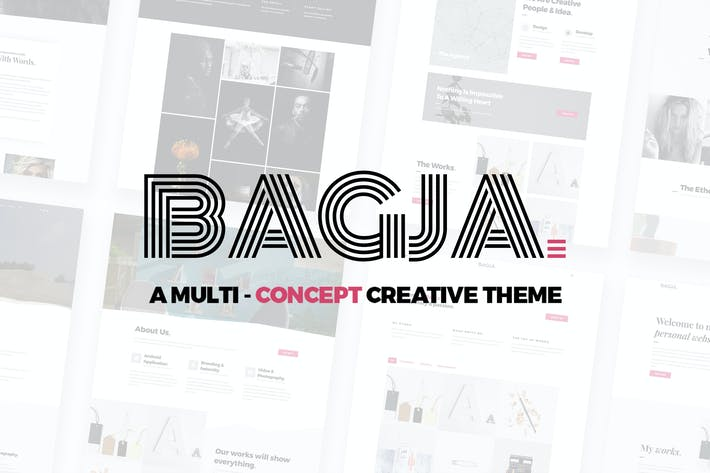 Thumbnail for Bagja - Responsive Multi Concept & One Page Portfo