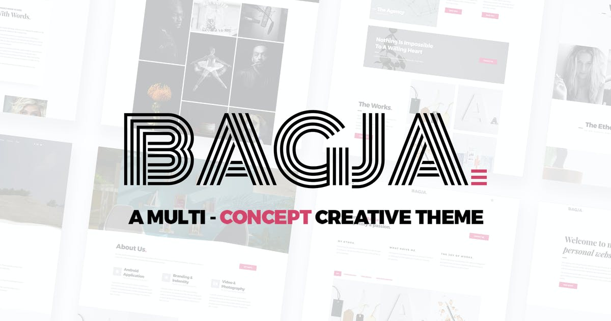 Download Bagja - Responsive Multi Concept & One Page Portfo by ridianur