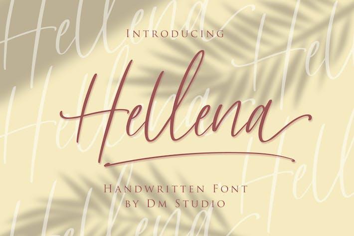 Thumbnail for Hellena - Handwritten Script Font