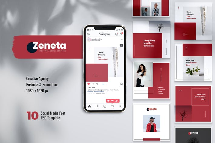 Thumbnail for ZENETA Creative Agency Instagram & Facebook Post