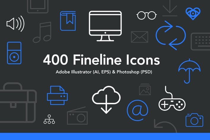 Thumbnail for 400 Fineline Icons