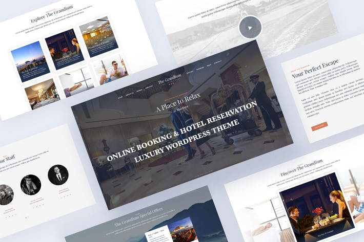 Thumbnail for Luxury Hotel Travel WordPress Theme - Grandium