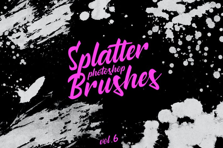 Thumbnail for Splatter Stamp Photoshop Brushes Vol. 6
