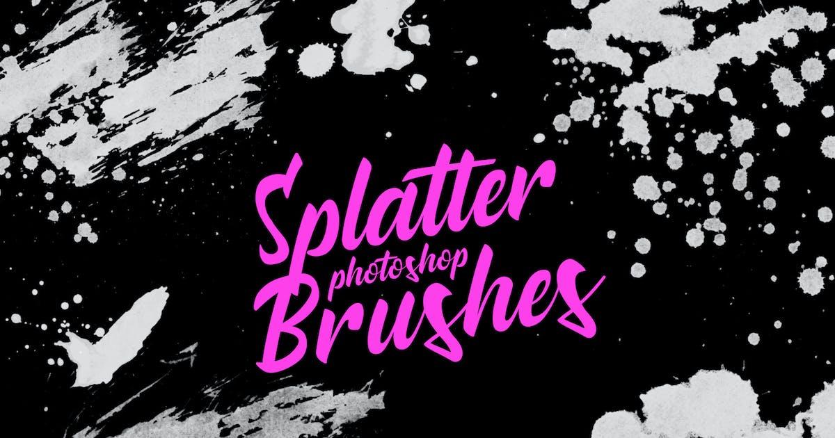 Download Splatter Stamp Photoshop Brushes Vol. 6 by FreezeronMedia