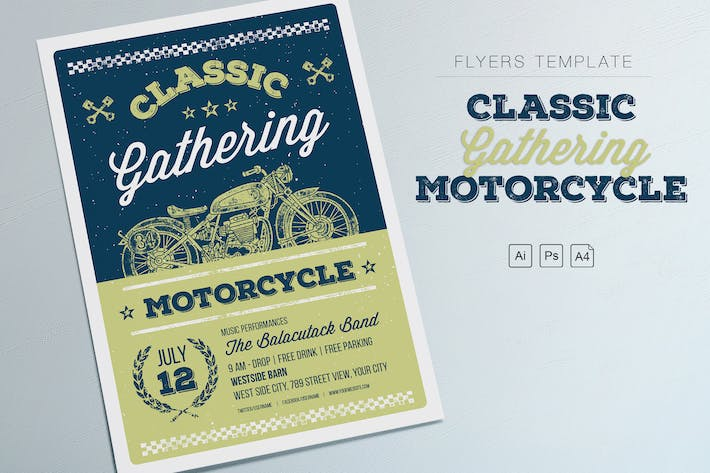 Thumbnail for Classic Gathering Motorcycle Flyers