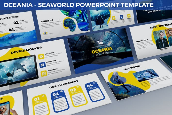 Oceania - Seaworld Powerpoint Template