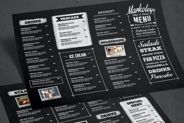Typography Blackboard Menu