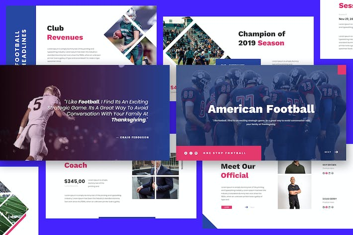 Thumbnail for American Football Keynote Template