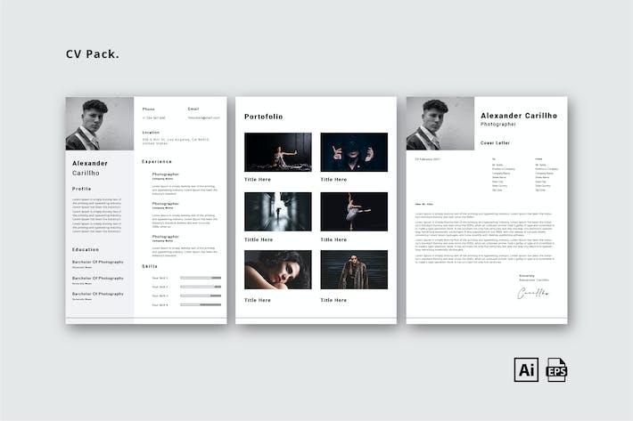 Grey CV Pack