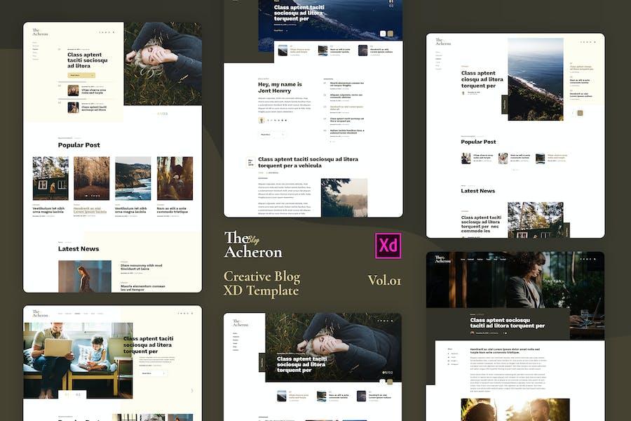 Acheron Vol.01 - Creative Blog XD Template