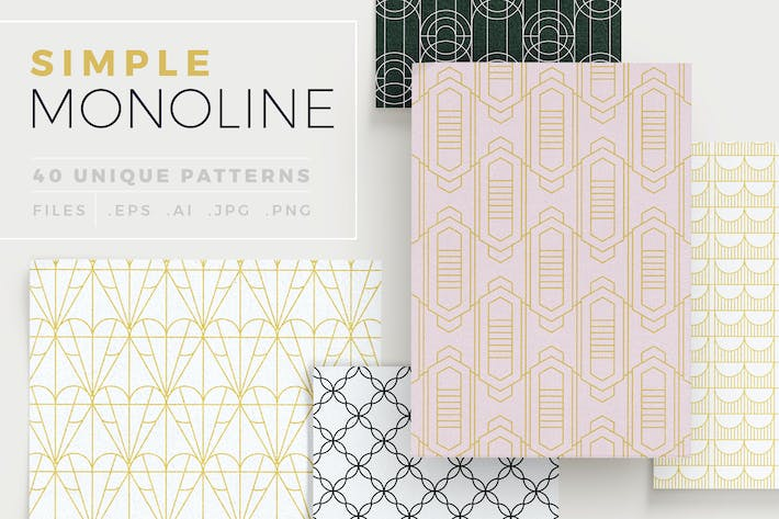 Thumbnail for Simple Mono Line Patterns