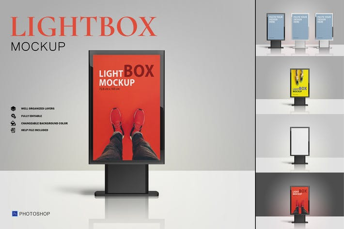 3 Styles Lightbox Mockup