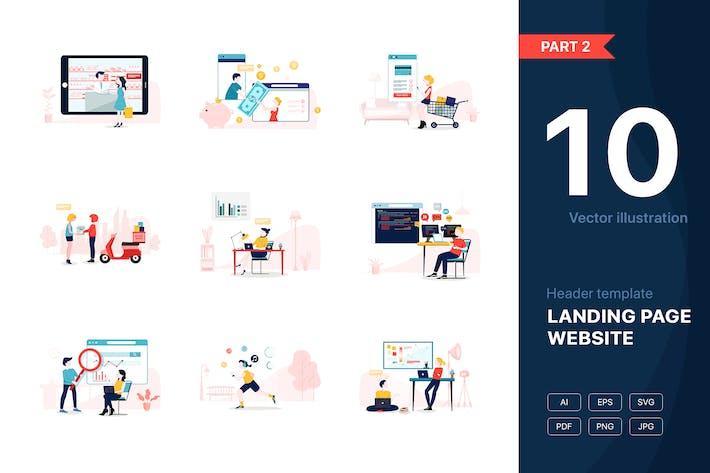 Cover Image For [Part 2] Website illustrations set