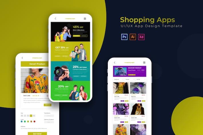 Thumbnail for Shopping-Apps | App Design Vorlage