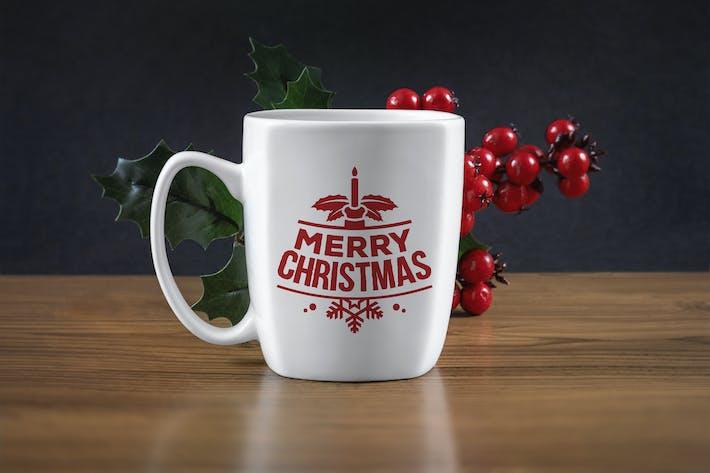 Thumbnail for Christmas mug mockup