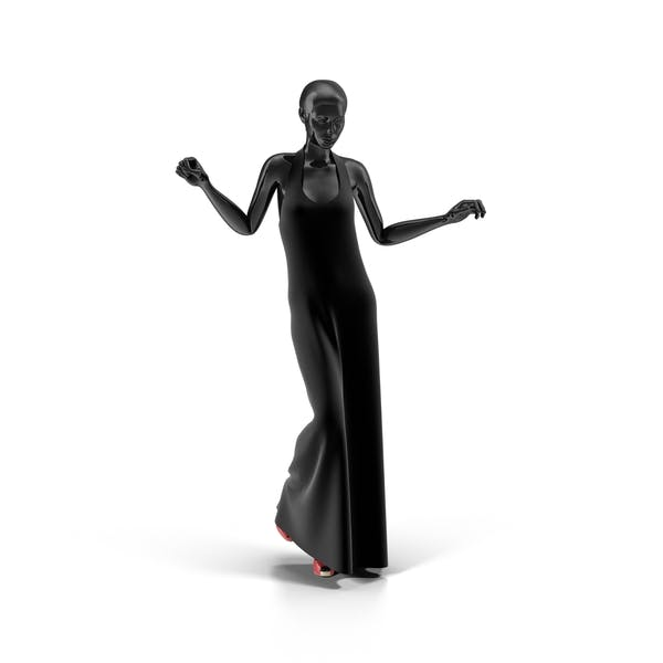 Showroom Mannequin With Long Dress