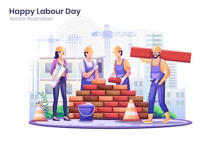 Labour Day Flat Illustration - Agnytemp