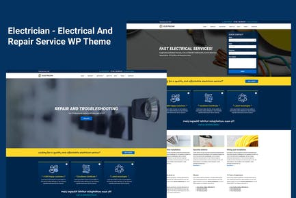 Electrician - Electrical Service WordPress