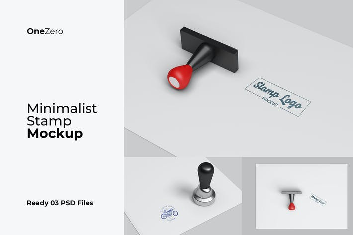 Thumbnail for Minimalist Stamp Mockup