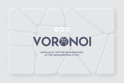 White Voronoi Backgrounds