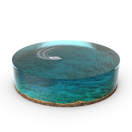 Paisaje marino Diorama