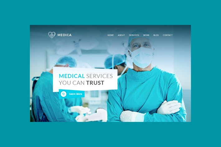 Thumbnail for Medica - Hero Banner Web Page Template