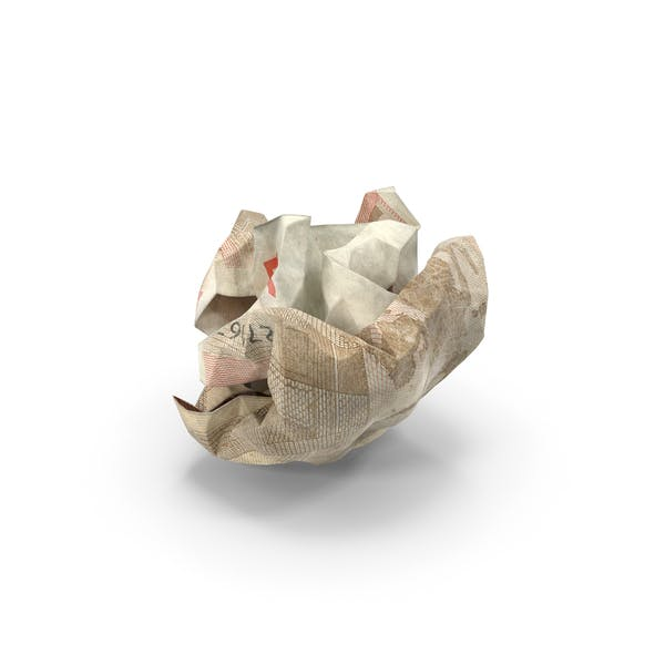 50 Euro Bill Crumpled